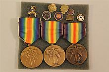 US WWI Victory Medals
