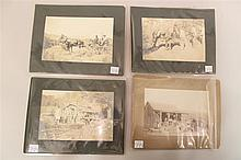 Grouping of 19th Century Western Photography