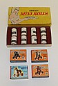 LOT OF MIB NRFB MINI TOYS - © 1967 DANISH MINI ROLLS (DELSEY); 1950's(?) (17) CAMERA VIEWERS AND (4) FUN ON WHEELS ANIMALS. (8) Roll...