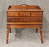 Wrightstown Trading Post Furniture Comapny, Bedside Table, Mahogany, Two Drawers, Scalloped Apron, 24
