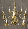 Brass Chandelier, 10 Light, 23