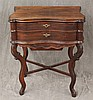 Dressing Table, Mahogany, Lift Lid to Fitted Interior, Two Drawers over Frieze Drawer On Scrolled Legs, X Stretcher, 29 1/4
