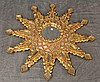 Gilt Mosiac Mirror of a Sun Design, 36