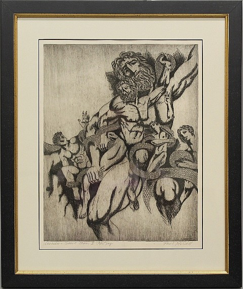 Framed Etching -