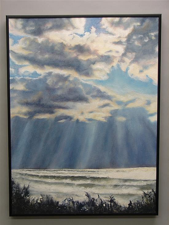 Christine McHugh, Pennsylvania Distant Thunder Oil on canvas.