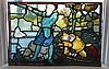 Stained Leaded Glass Panal of Knights in Battle, 24