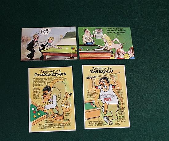 4 humorous Postcards, 2 English, 2 Irish
