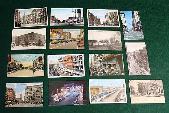 Lot of 15-pc U.S. Street scenes, Pool Halls