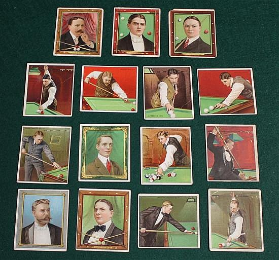 Complete set (15 pc.) of Mecca cigarette cards.