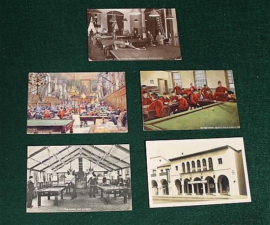 Lot of 5 pc.of British soldiers pool/Snooker hall.