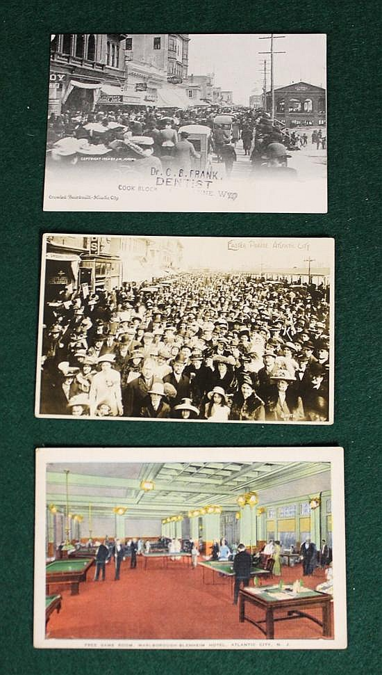 3 pc. lot of Atlantic City N.J., 1 advertising Dr. C.B. Frank, Dentist.