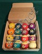 Vintage set of KaLine pool balls 2 ¼