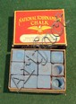 Full box of Rosatto Barry Co. National tournament chalk. 9 unused pieces. Cubes have the Rosatto Barry label.