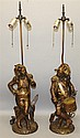 Pair of Figural Bronze Table Lamps