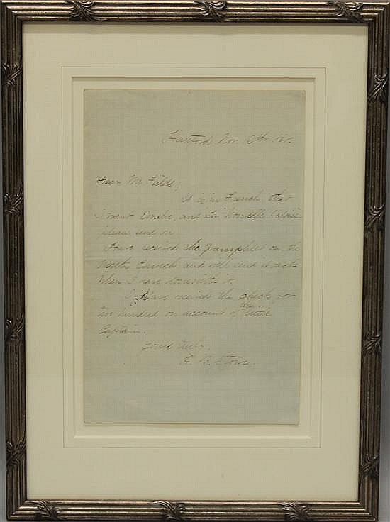 Harriet Beecher Stowe Autograph