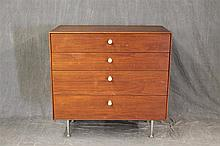 Herman Miller Walnut Chest of Drawers, 33 1/2