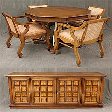 6 Piece Dining Room Suite, Walnut, (1) Octagonal Dining Table 29