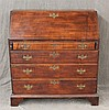 Chippendale, Slant Front Desk, Cherry, Dovetailed Top, Fitted Interior with Pigeon Hole Compatrments and Seven Drawers over Four Gra...