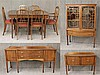 Steul Furniture, 10 Piece Dining Room Suite, Mahogany, (1) Dining Table (Minor Fading on Top) 30