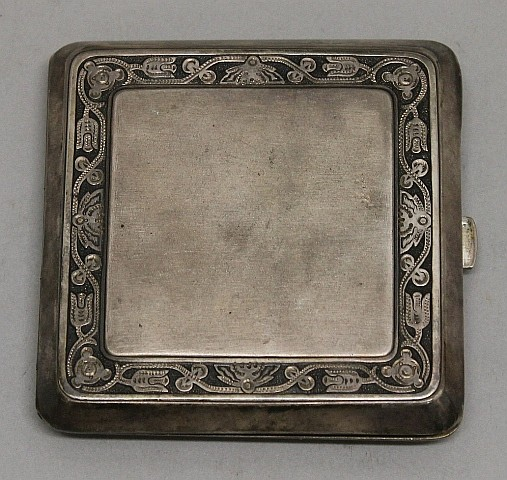 Russian Sterling Silver Cigarette Case