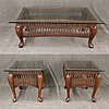 3 Piece Wicker Table Set from Braxton Culler, (1) Glass Top Coffee Table, 18