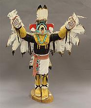 Kachina doll Eagle Dancer by Elvis Begay, Hopi, 35