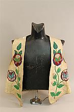 Mens beaded vest, Cree Chippewa, circa 1900-1920