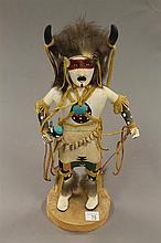 Kachina doll, Buffalo Dance by H. Bebo, 1988, 11