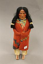 Skookum doll, circa 1900's, 12
