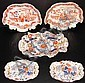 Lot of 5 Mason's Gaudy Ironstone Shaped Serving Dishes