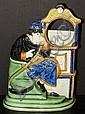 Pratt Ware Figural Watch Stand