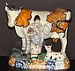 Pratt Ware Cow with Calf & Milkmaid