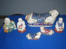 Group of Chinese Famille rose style pottery.