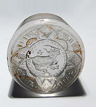 A nicely carved Central Asian glass seal