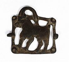 A Caucasian bronze belt plaque