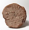 Egyptian terracotta funerary cone for Menkheperreseneb