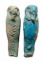 2 Egyptian faience ushabtis, Ex Royal Athena
