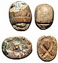 Pair of Egyptian scarabs, Ex Royal Athena