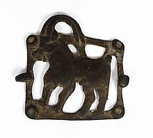 A Caucasian bronze belt plaque