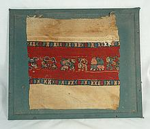 Attrative and colorful Egyptian Coptic textile
