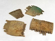 A group of 4 Coptic bone combs