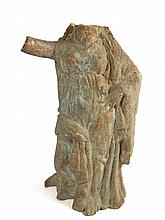A Greek tanagra figure of a woman