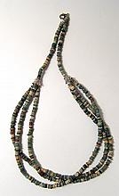 A lovely Egyptian faience bead necklace