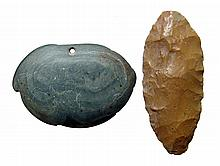 A pair of Egyptian Predynastic stone objects