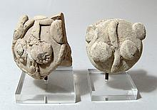 A pair of  Syro-Hittite terracotta heads, Anatolia