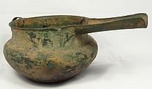Bronze Luristan long spouted pouring vessel