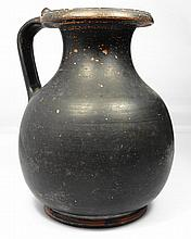 An Attic black-ware olpe