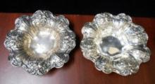 2 REED & BARTON STERLING FRANCIS 1ST REPOUSSE BOWLS