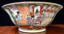 CHINESE QING LONG MARKED ROSE FAMILLE BOWL