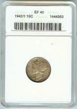 U.S. SIVER BARBER DIME 1942/1 EF40 CONDITION